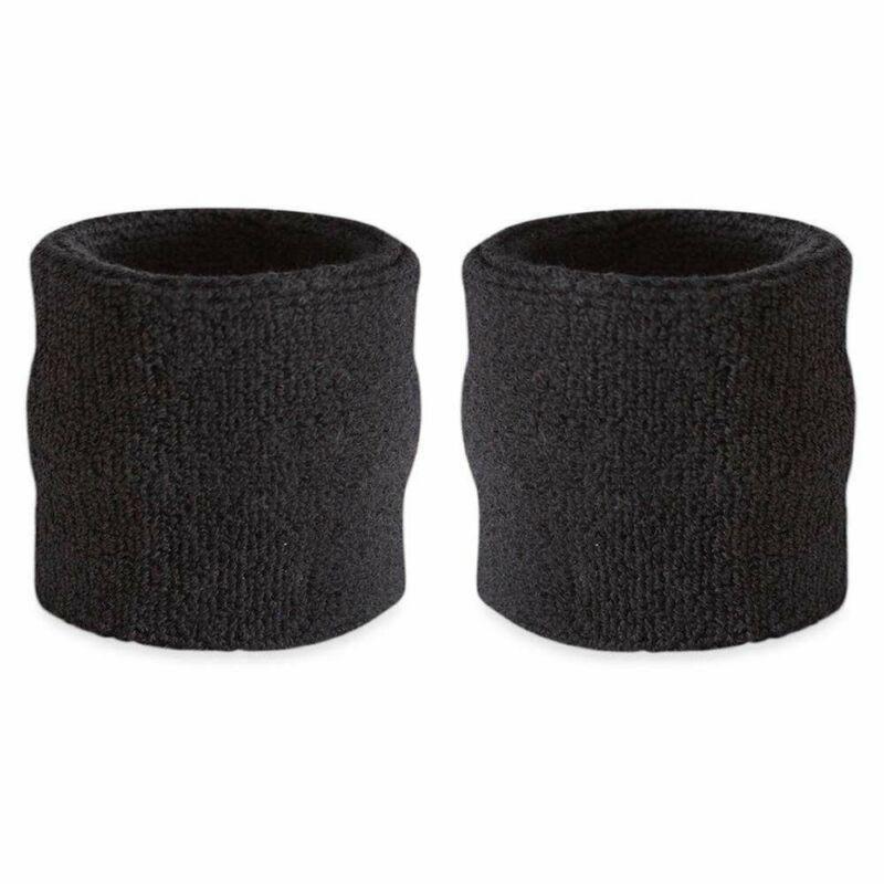 Suddora Wrist Sweatbands - Terry Cloth Wrist Bands for Basketball, Tennis,