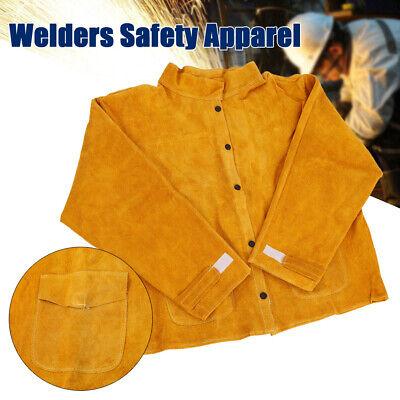 New Welder Leather Jacket Flame Retardant Safety Apparel Protective Coat Apron