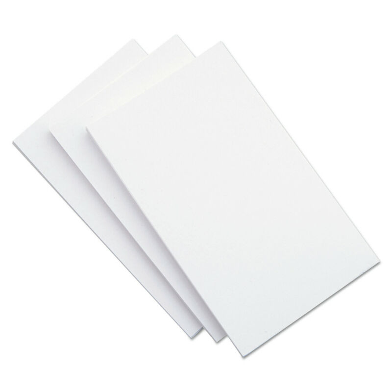 Universal 47240 100-Pc. 5 in. x 8 in. Unruled Index Cards (White) New