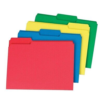 Staples Colored Top-Tab File Folders 3 Tab Assorted Colors Letter Size 24/PK](Colorful File Folders)