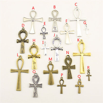 - 10pcs Egyptian War God Ankh Cross Charms Pendant For DIY Craft Jewelry Findings