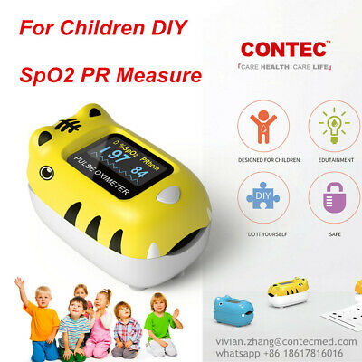 Kid Pediatric Child Finger Pulse Oximeter Spo2 Heart Rate Blood Oxygen Monitor