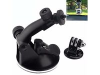 Black Suction Cup With Tripod Adapter Camera Accessories For Gopro Hero 4/3/2/HD