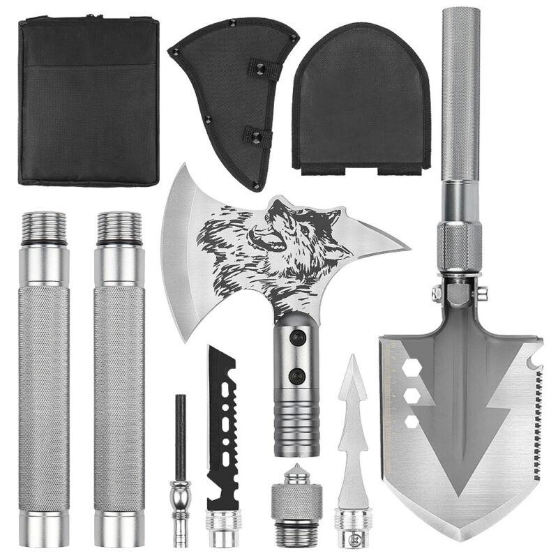 Multitool Folding Survival  Shovel Axe Set  Survival Tool for Camping Hiking
