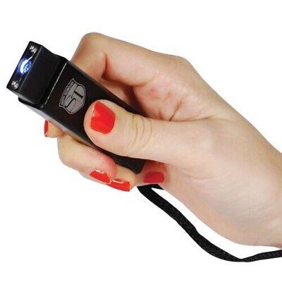 Slider 10,000,000v Powerful Self-Defense Stun Gun-Keychain & Flashlight - BLACK