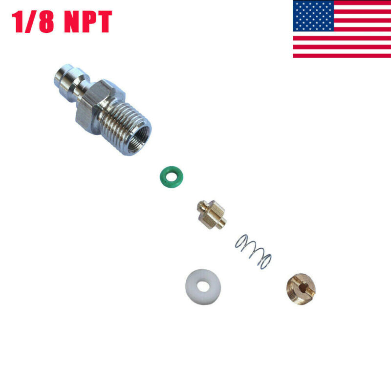 8mm Stainless Steel Paintball PCP One Way Valve Foster Fill Nipple 1/8 NPT Plug