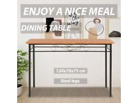 Dining Table Brown 120x70x75 cm MDF-281402