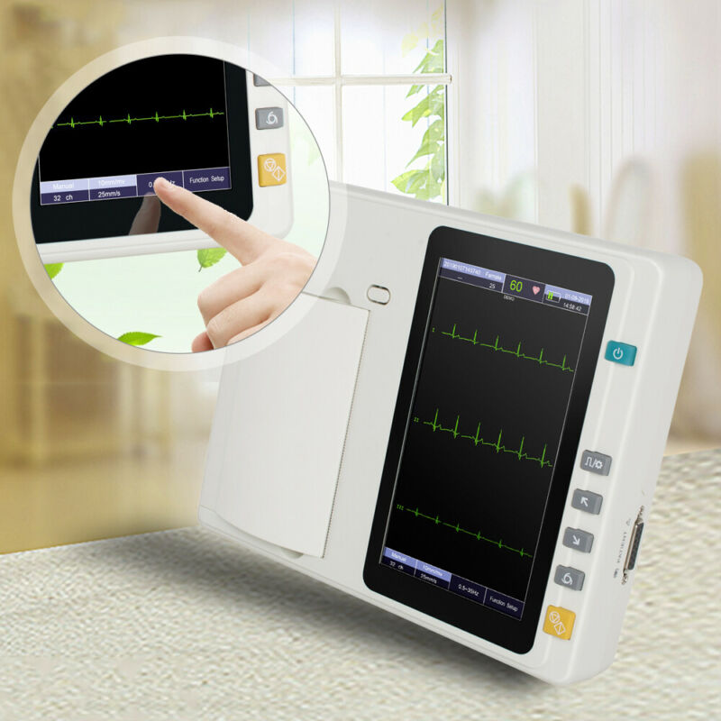 Porable Digital 3-Channel 12 Lead Electrocardiograph ECG EKG System Machine Sale