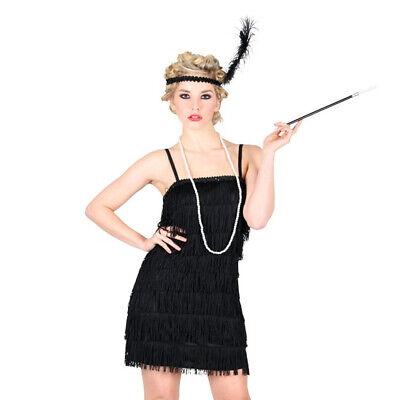 WOMAN'S BLACK SHOWTIME FLAPPER EVENING PARTY DRESS FANCY DRESS 1920S CHARLESTON - 1920 Costume