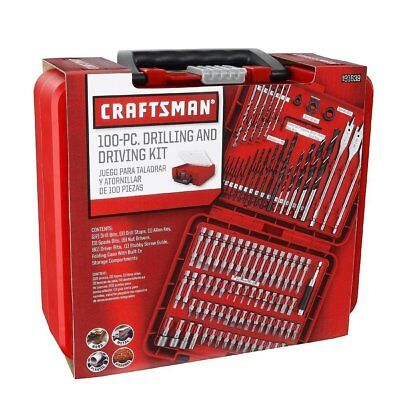 Craftsman Tool Set 100 Piece Drilling and Driving Kit for Metal Wood Plastic