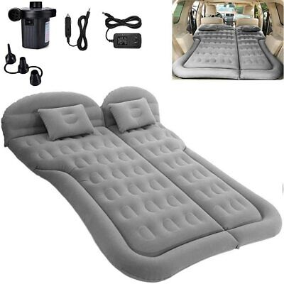 SUV Air Mattress, Double Sided Inflatable Mattress with Travel Pillow And Pump