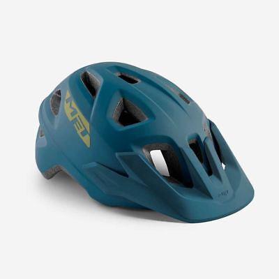 Bicicleta de Montaña Ciclo de Casco Met Echo Gasolina Azul Mate 52...