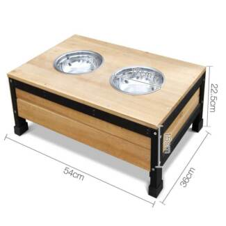 Timber Dog Kennel w/ Food Bowls