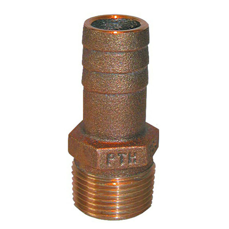 """GROCO 3/4"""" NPT x 3/4"""" ID Bronze Pipe to Hose Straight Fitting"""
