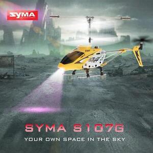 Syma S107G Mini Yellow 3-Kanal Infrarot RC R/C Hubschrauber mit Gyro R8H7