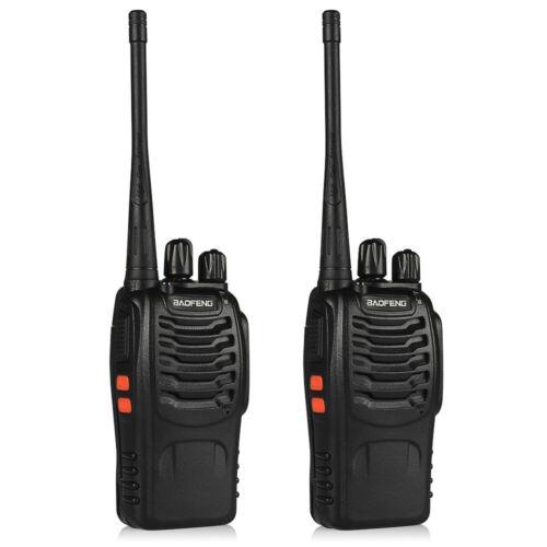 2Pack Baofeng BF-888S Two-way Radio UHF Handheld 2Watt Walkie Talkie, Headset