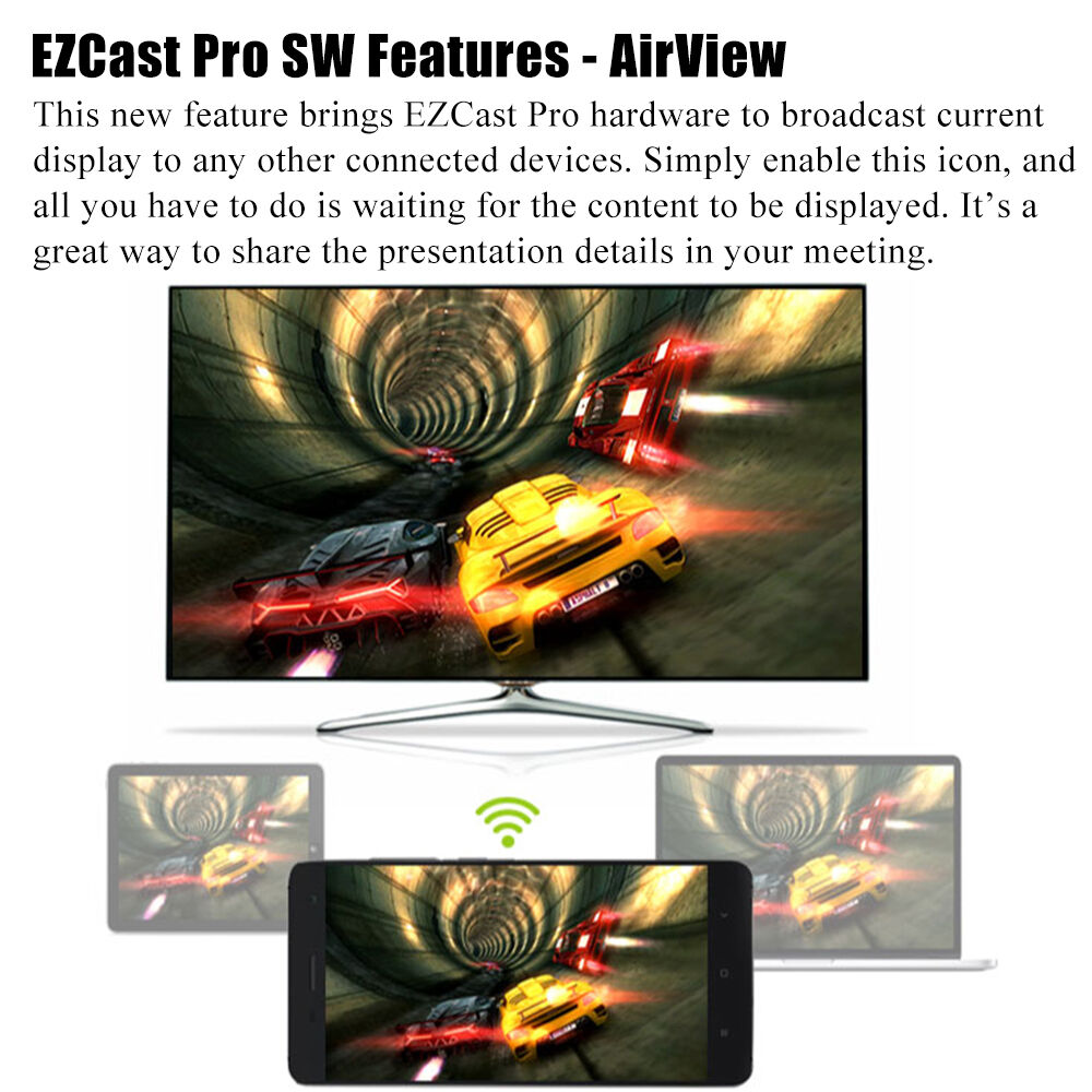 Ezcast Pro Dongle Wireless Hdmi Mirror2 Tv Stick High Speed Airplay Latest V5ii Wifi Mircast Dlna 5 6999 Of See More