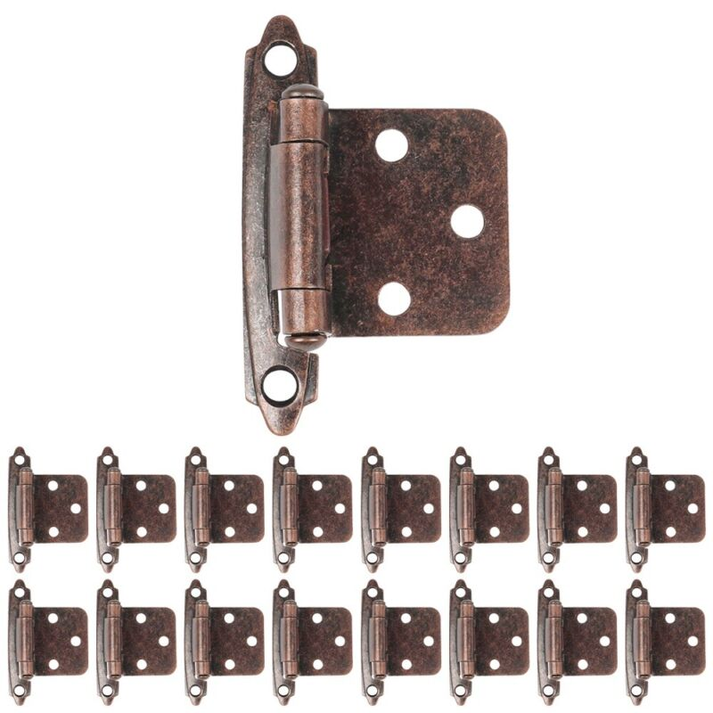 40X Overlay Cabinet Door Hinges Face Frame Kitchen Variable Self Closing + Screw