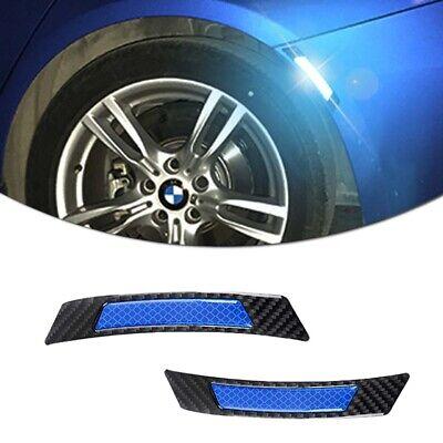 Real Carbon Fiber Fender Arch Trim Stickers Protector Car Wheel Eyebrow Strips