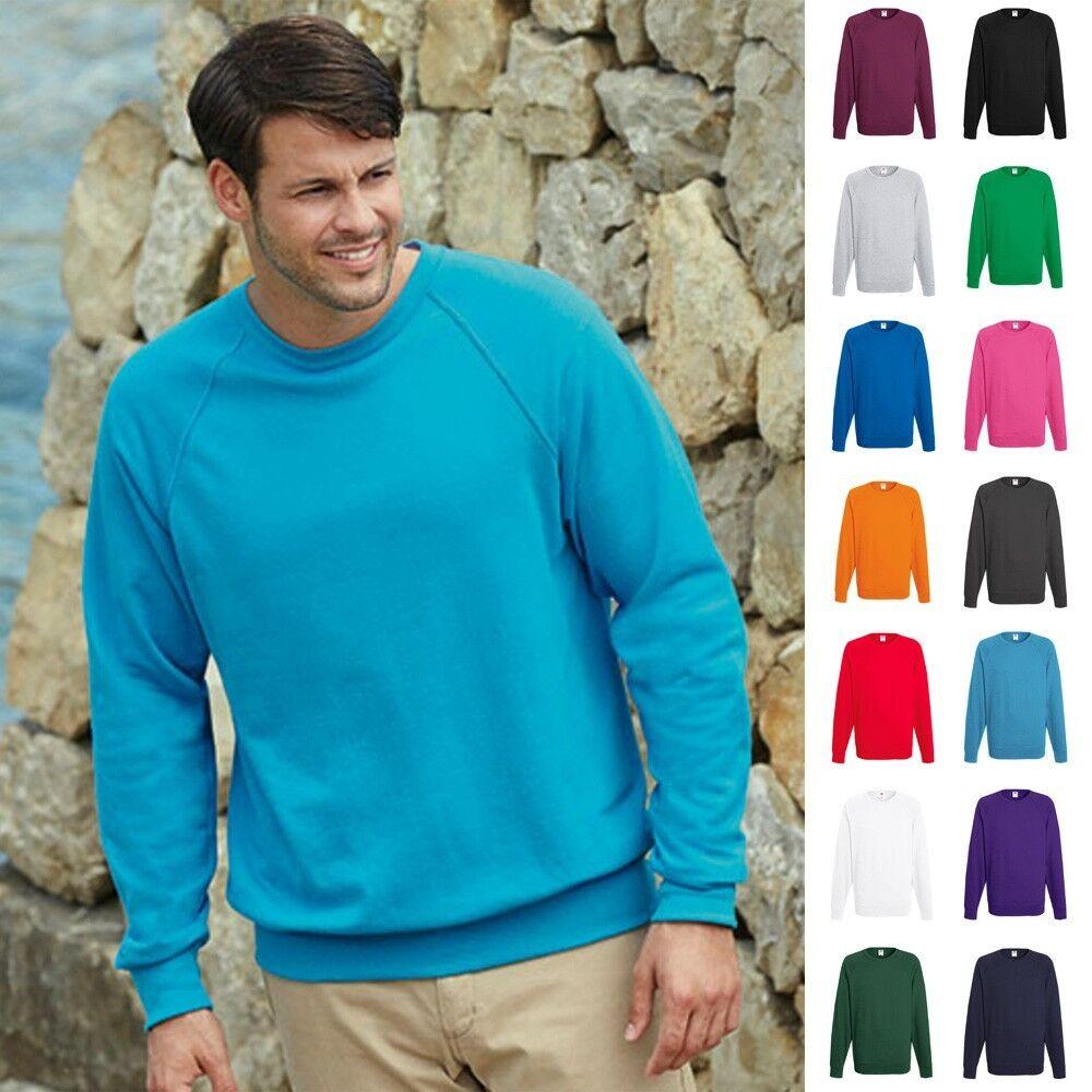 Fruit of the loom Sweatshirt Sweat Pulli Raglan Herren Pullover Lightweight
