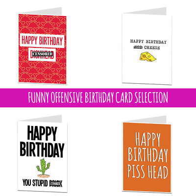 Happy Birthday Card Funny Insult Offensive Adult For Brother Best Mate Him (Best Card For Happy Birthday)