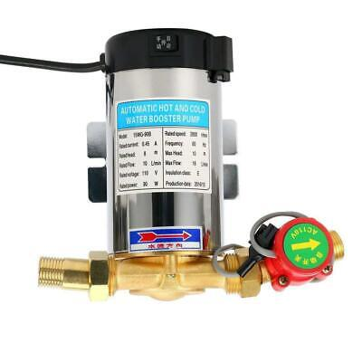 110V 90W Automatic Shower Pressure Water Booster Stainless Steel Pump 4.7 GPM US (Automatic Water Pressure Pump)