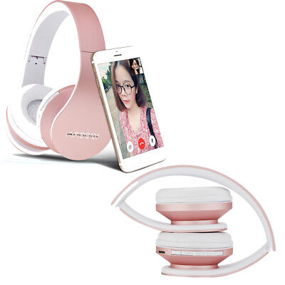 Wireless Bluetooth Headset Earphone Stereo Foldable Headphone w/Mic for iPhone