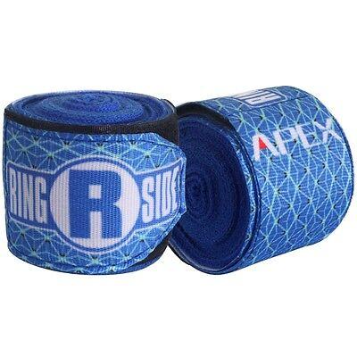 New Ringside Apex Kick Boxing MMA Handwraps Hand Wrap Wraps 180 - Blue
