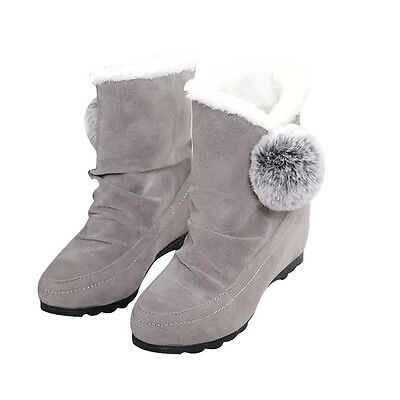 Fashion Women Ankle Boots Winter Shoes Warm Suede Flats Casual Shoes  USPS 6