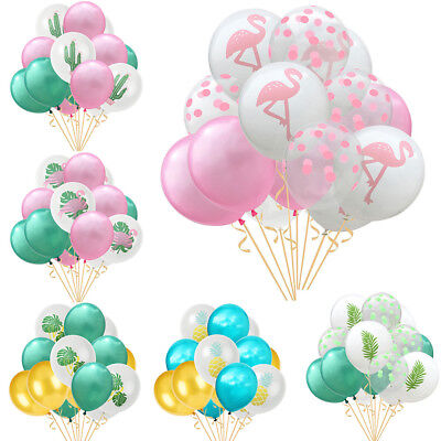 15Pcs/Set Hawaiian Tropical Home Birthday Party Decorations Double Color - Hawaiian Balloon Decorations