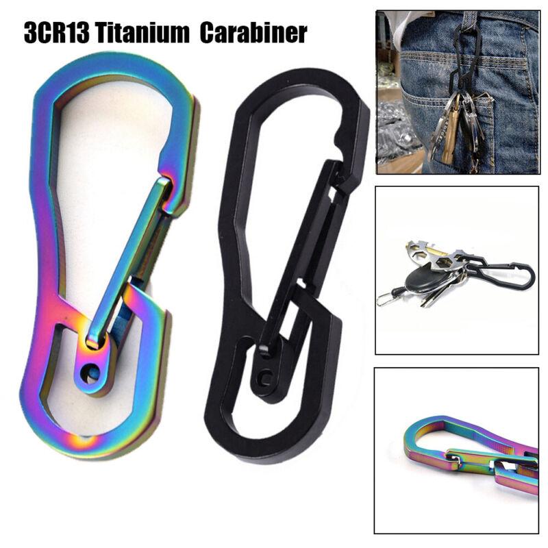 Titanium Plating Keychain Holder Climbing Carabiner Camping