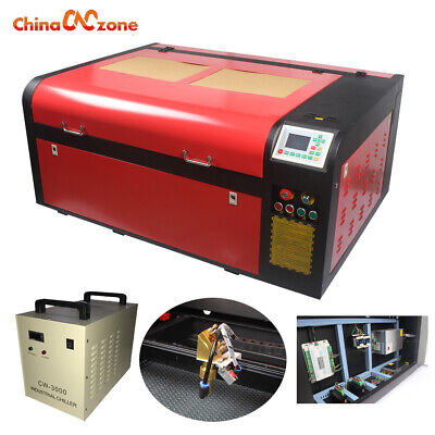 6090 100w Laser Cutter Engraving Machine Cw-3000 Water Chiller Rotary Axis