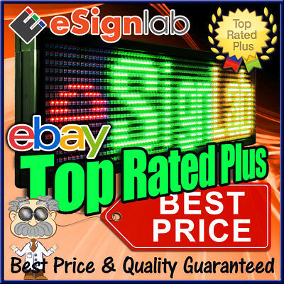 19 X 52 Red Green Yellow Led Sign Programmable Neon Open Scrolling Message Sign