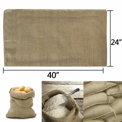- 10 Bags Heavy Duty 24x40 Burlap Bags Sacks Potato Sack Sandbags Gunny Race Bag