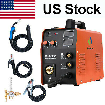 Hitbox Mig250 Mma Lift Tig Mig Welding Machine Mag Gas Gasless Stick Welders Set