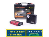 Brand New Professional Car Jump Starter Portable Battery Power Bank Booster Pack & Air Compressor