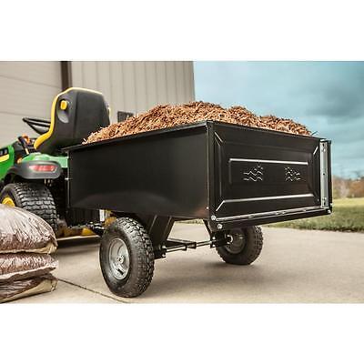 AGRI-FAB Dump Cart Garden Yard Lawn Mower Tractor Trailer Attachement-10 CU/FT ()