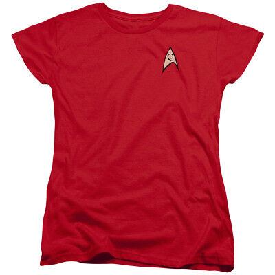 al Sci-Fi TV Series Red Engineering Uniform Women's T-Shirt (Original Star Trek Womens Uniform)