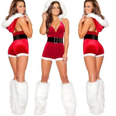 Ladies Mrs Santa Claus Outfit Xmas Sexy Costume Adults Christmas Fancy Shorts - Adult Santa Outfit
