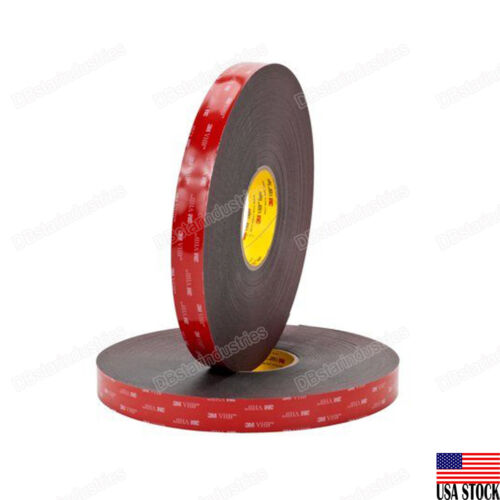 """3m 1/2 """"x 9 Ft Double Sided Foam Adhesive Tape 5952 Industrial Grade Made In Us"""