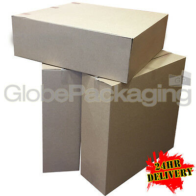 10 X-LARGE S/W CARDBOARD PACKING BOXES 32x10x32