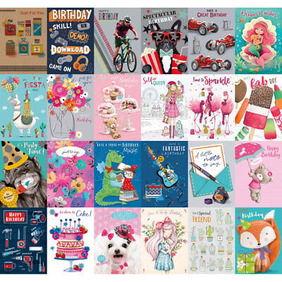 WHOLESALE GREETINGS & BIRTHDAY CARDS X 50 £12.50 ALL NEW with ENVELOPES JOB lot