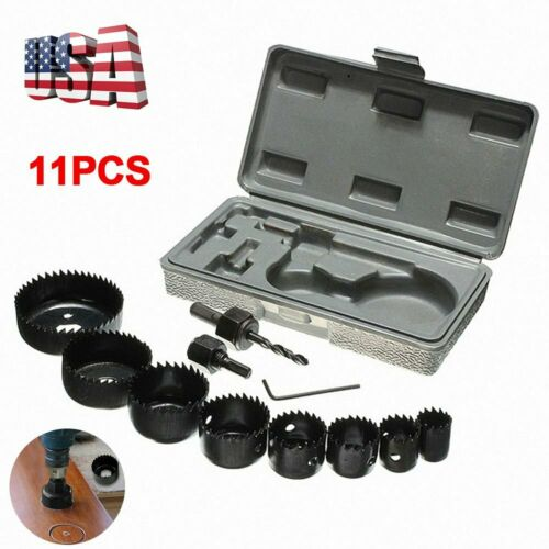 11x Hole Saw Drill Bit Kit Holesaw Woodworking Tool for Shee