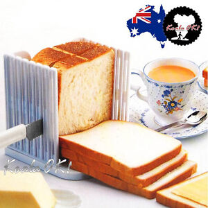 Bread Toast Sandwich Slicer Cutter Mold Maker Kitchen Guide Slicing Tools OK!