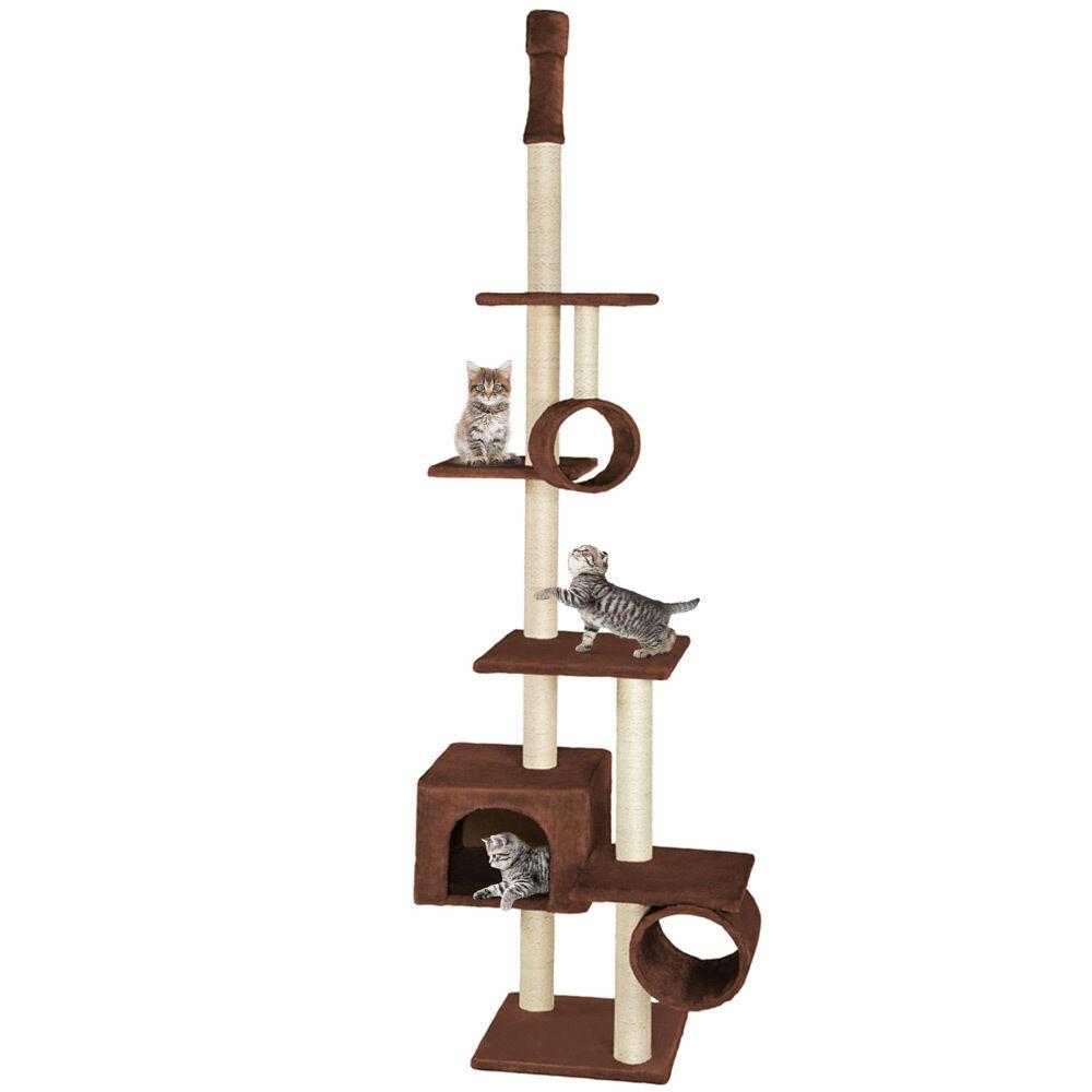 xxl kratzbaum katzenkratzbaum katzenbaum kletterbaum sisal deckenhoch braun eur 37 99. Black Bedroom Furniture Sets. Home Design Ideas