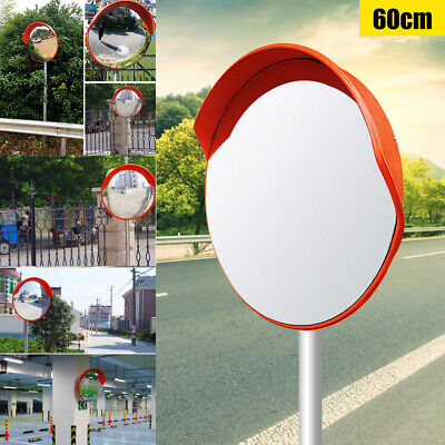 60cm Outdoor Safety Convex Pc Mirror Road Traffic Wide Angle Driveway Security