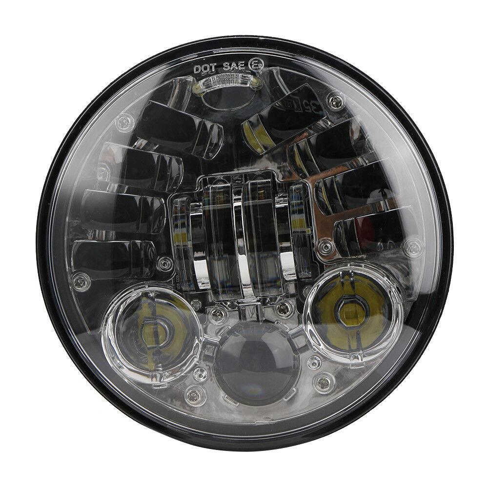 5.75/'/' SCHEINWERFER LED 40W MOTORRAD für Harley USW UNIVERSAL DOT E9-Geprüft  DE