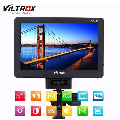 """VILTROX DC-50 5""""LCD HD Video Monitor AV Wide Angle for Camera Camcorder Canon DV"""