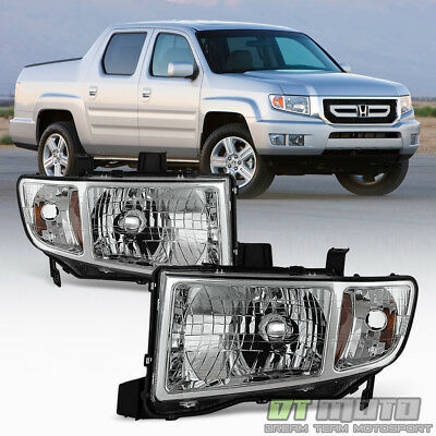 For 2006-2014 Honda Ridgeline Pickup Headlights Headlamps Replacement Left+Right