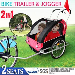 Orginal Monvelo Brand Kids Bike Trailer Children Bicycle Pram Stroller Jogger
